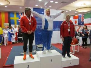 1. Katariina Nokua FIN 160kg, 2. Szczepanik Dorota POL 140kg, 3. Eastin Kimberly USA 110kg