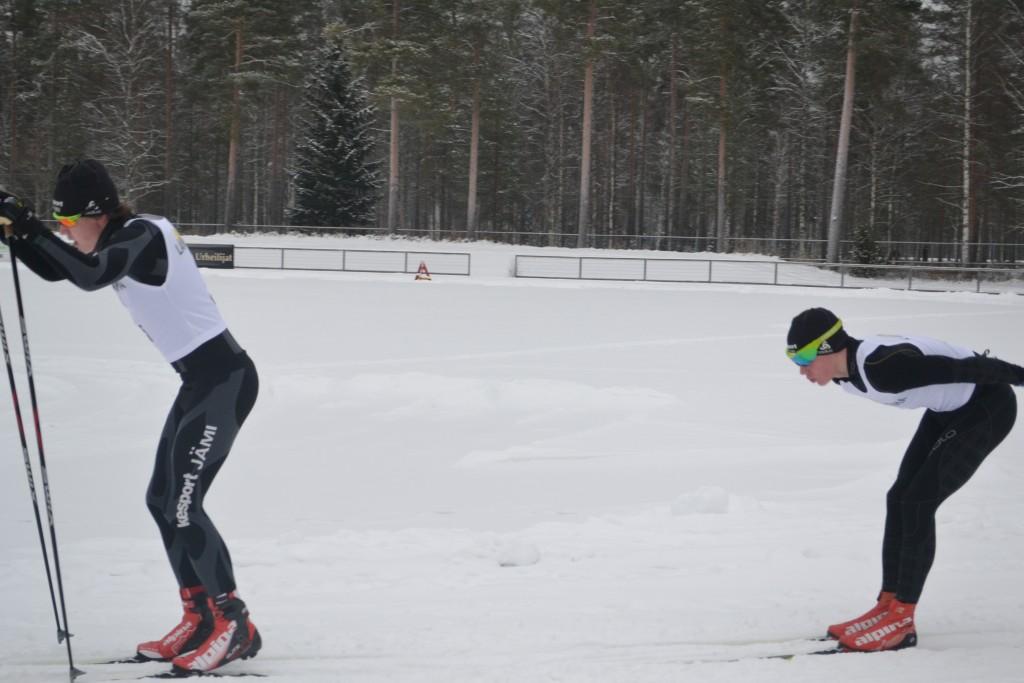 Jussi maakuntaviestissä Kankaanpäässä tammikuussa.